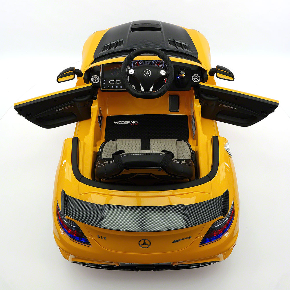 Moderno Kids Mercedes SLS AMG Final Edition 12V Kids Ride-On Car with Parental Remote | Yellow - www.ModernoKids.com