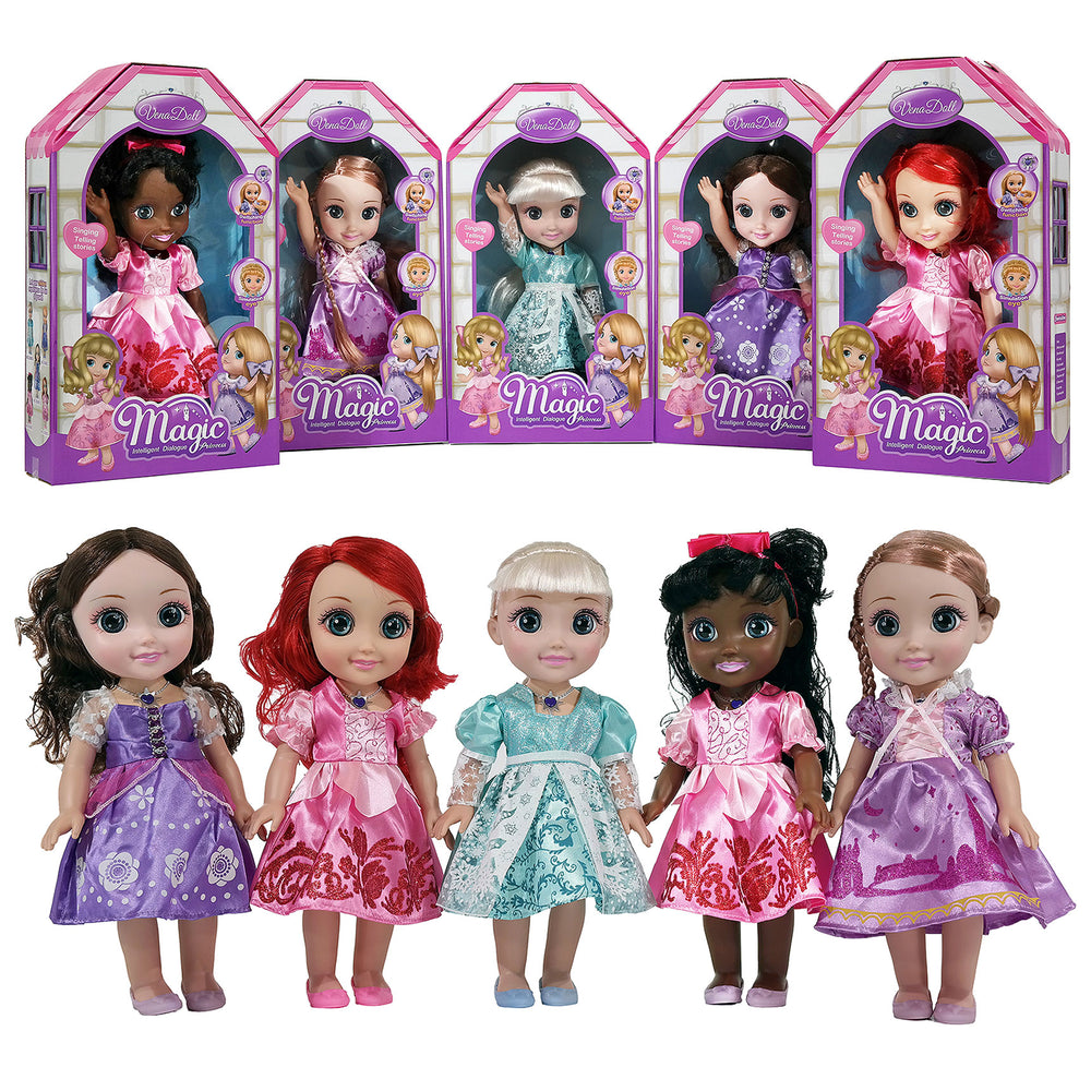 Moderno Kids Magic Princess Talking Interactive Play Doll with Carrying Case and Accessories  | Red Hair