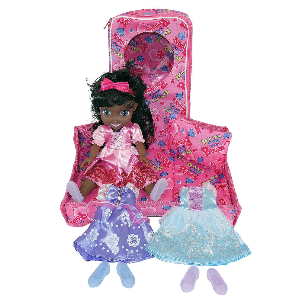 Moderno Kids Magic Princess Talking Interactive Play Doll with Carrying Case and Accessories  | Black Hair