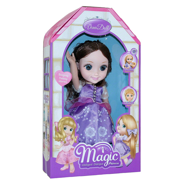 Moderno Kids Magic Princess Talking Interactive Play Doll with Carrying Case and Accessories  | Brown Hair