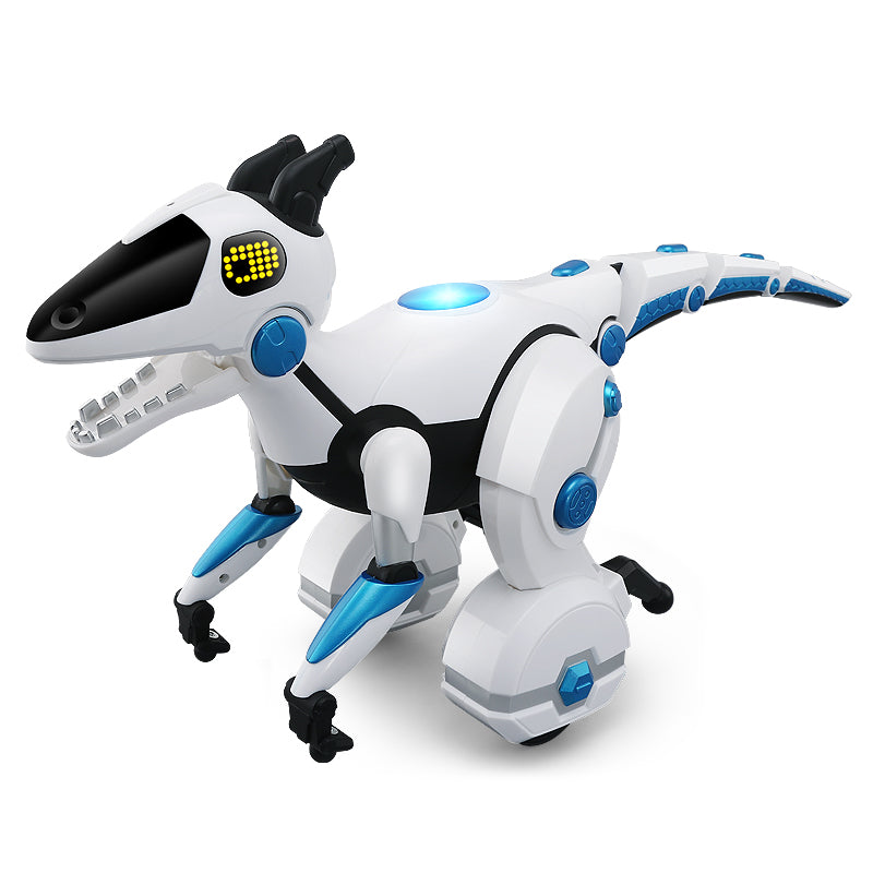 Moderno Kids Interactive Battery Operated Self Balancing Dinosaur with RC Remote Control | White