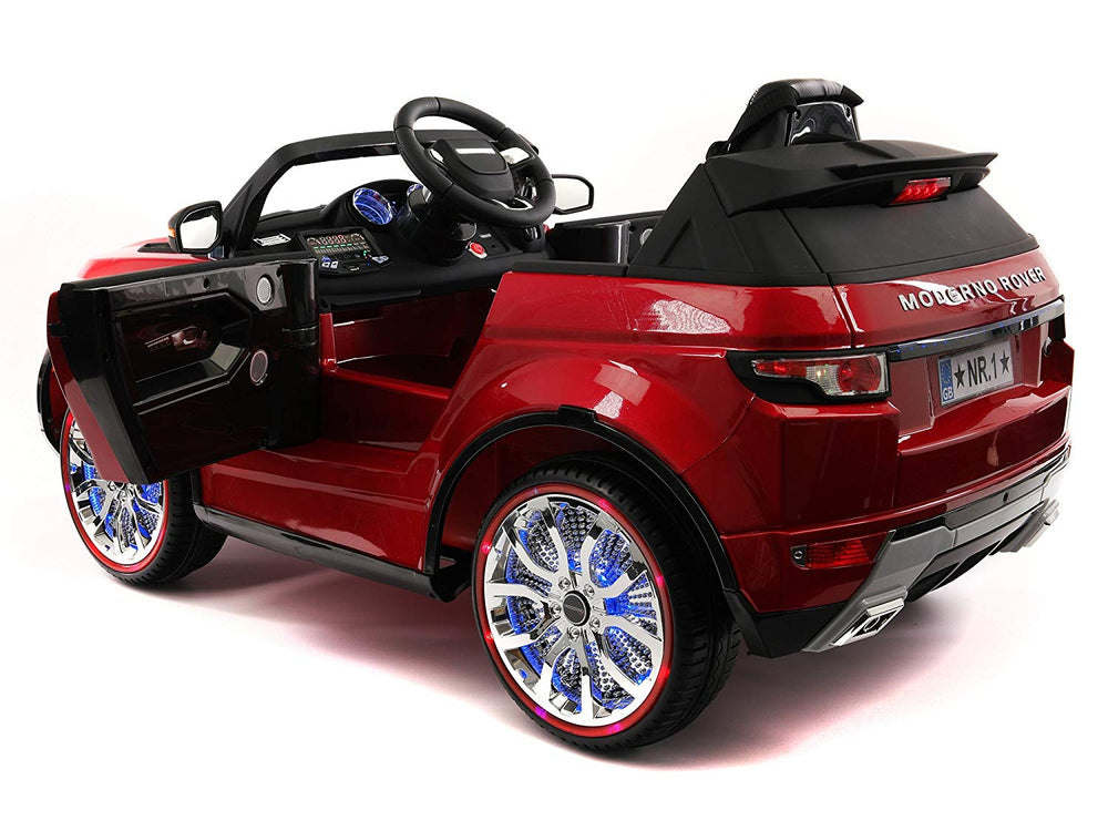Moderno Kids Moderno Rover 12V Kids Ride-On Car with R/C Parental Remote | Cherry Red