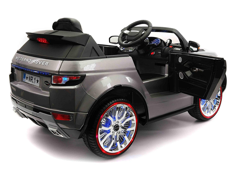 Moderno Kids Moderno Rover 12V Kids Ride-On Car with R/C Parental Remote | Gray Metallic
