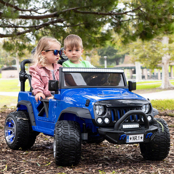 Moderno Kids Trail Explorer 12V Kids Ride-On Car Truck with R/C Parental Remote | Blue