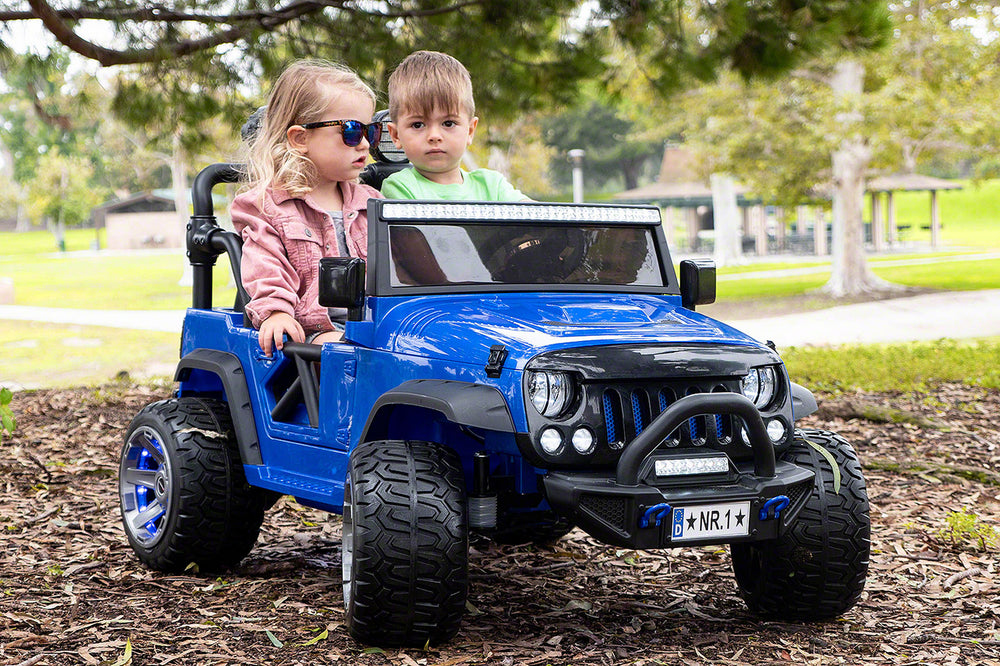 Moderno Kids Trail Explorer 12V Kids Ride-On Car Truck with R/C Parental Remote | Police