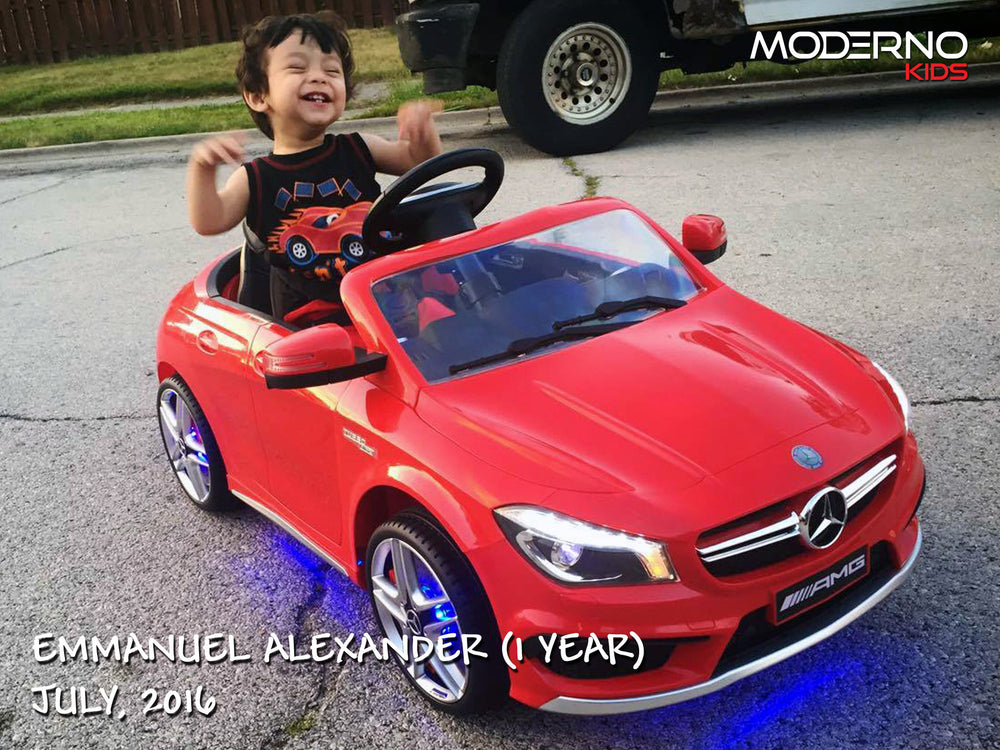 Mercedes CLA45 12V Kids Ride-On Car with R/C Parental Remote | Red