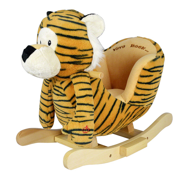 Moderno Kids Plush Animal Ride On Rocking Toy | Tiger