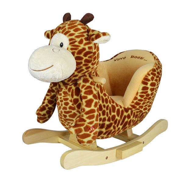 Moderno Kids Plush Animal Ride On Rocking Toy | Giraffe