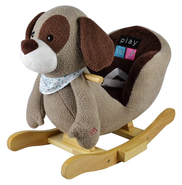 Moderno Kids Plush Animal Ride On Rocking Toy | Puppy
