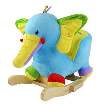 Moderno Kids Plush Animal Ride On Rocking Toy | Elephant