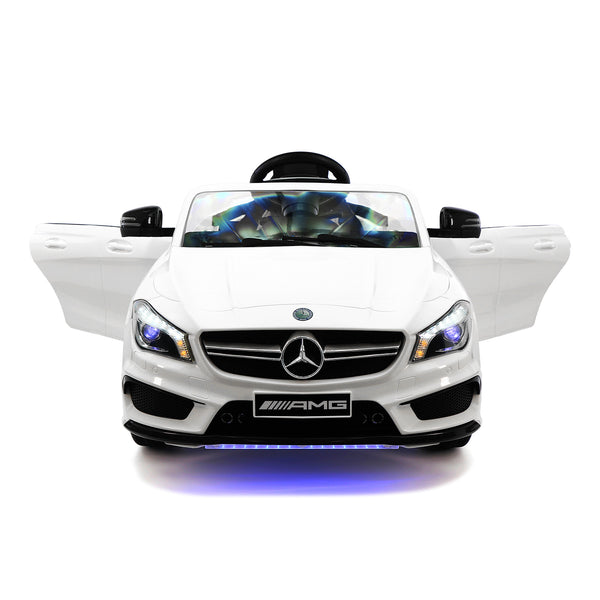 Moderno Kids Mercedes CLA45 12V Kids Ride-On Car with R/C Parental Remote | White