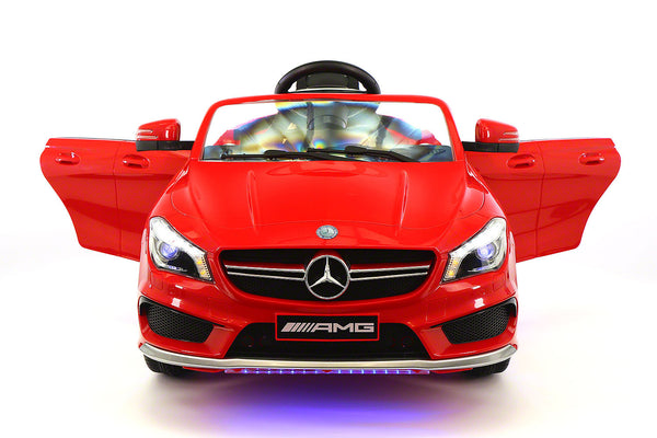 Moderno Kids Mercedes CLA45 12V Kids Ride-On Car with R/C Parental Remote | Red - www.ModernoKids.com