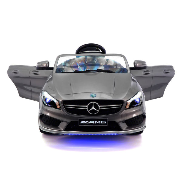 Moderno Kids Mercedes CLA45 12V Kids Ride-On Car with R/C Parental Remote | Gray Metallic