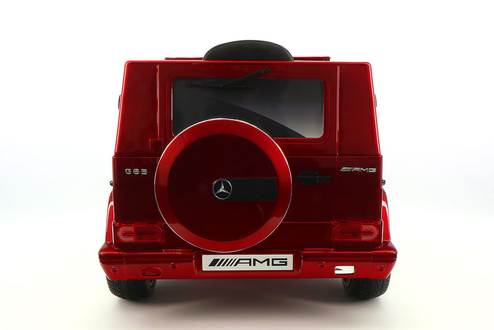 Moderno Kids Mercedes G65 AMG 12V Kids Ride-On Car with Parental Remote | Cherry Red