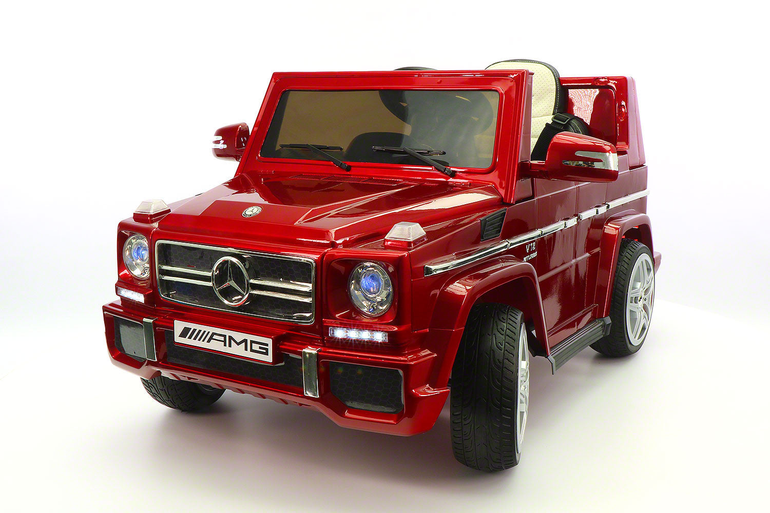 mercedes g65 amg 12v kids ride on car with parental remote cherry red