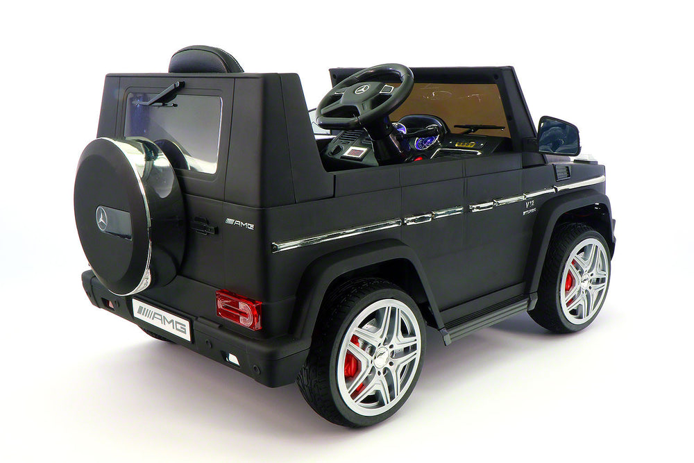 Moderno Kids Mercedes G65 AMG 12V Kids Ride-On Car with Parental Remote | Matt Black