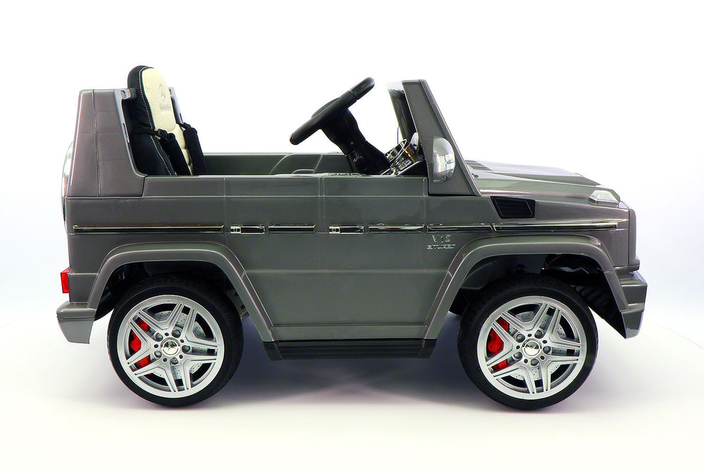 Moderno Kids Mercedes G65 AMG 12V Kids Ride-On Car with Parental Remote | Gray Metallic