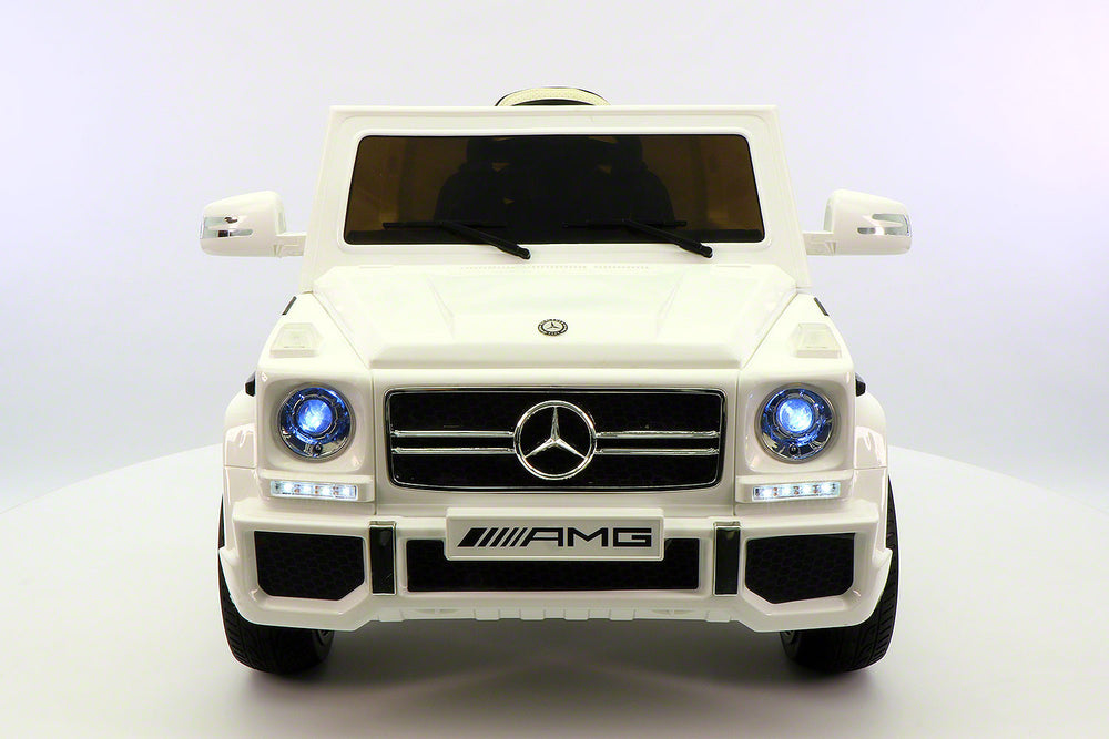 Moderno Kids Mercedes G65 AMG 12V Kids Ride-On Car with Parental Remote | White