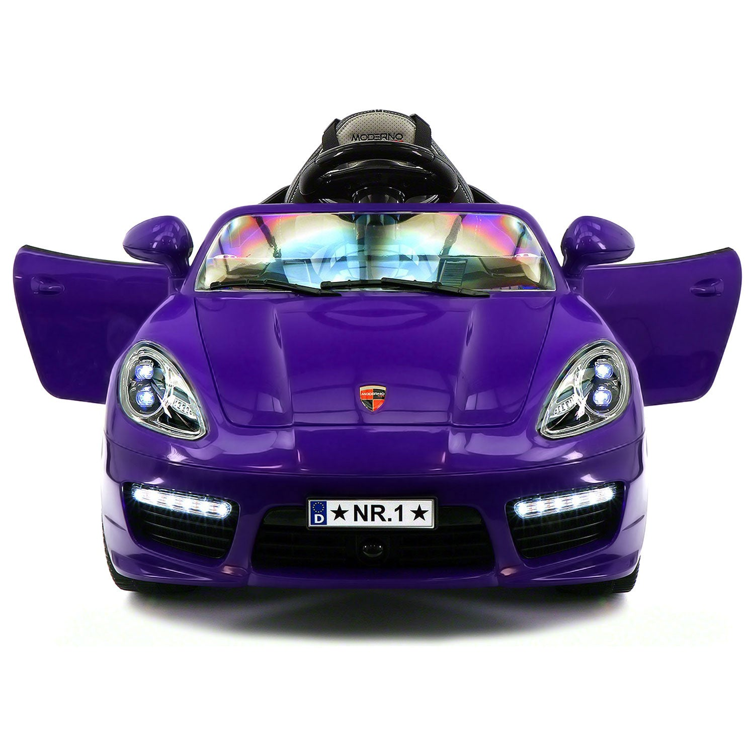 kiddie roadster 12v kids electric ride on car with rc parental remote purple