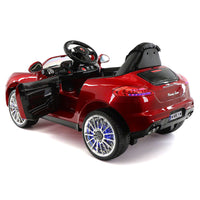 Moderno Kids Kiddie Roadster 12V Kids Electric Ride-On Car with R/C Parental Remote | Cherry Red