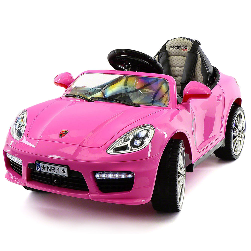 Moderno Kids Kiddie Roadster 12V Kids Electric Ride-On Car with R/C Parental Remote | Pink - www.ModernoKids.com