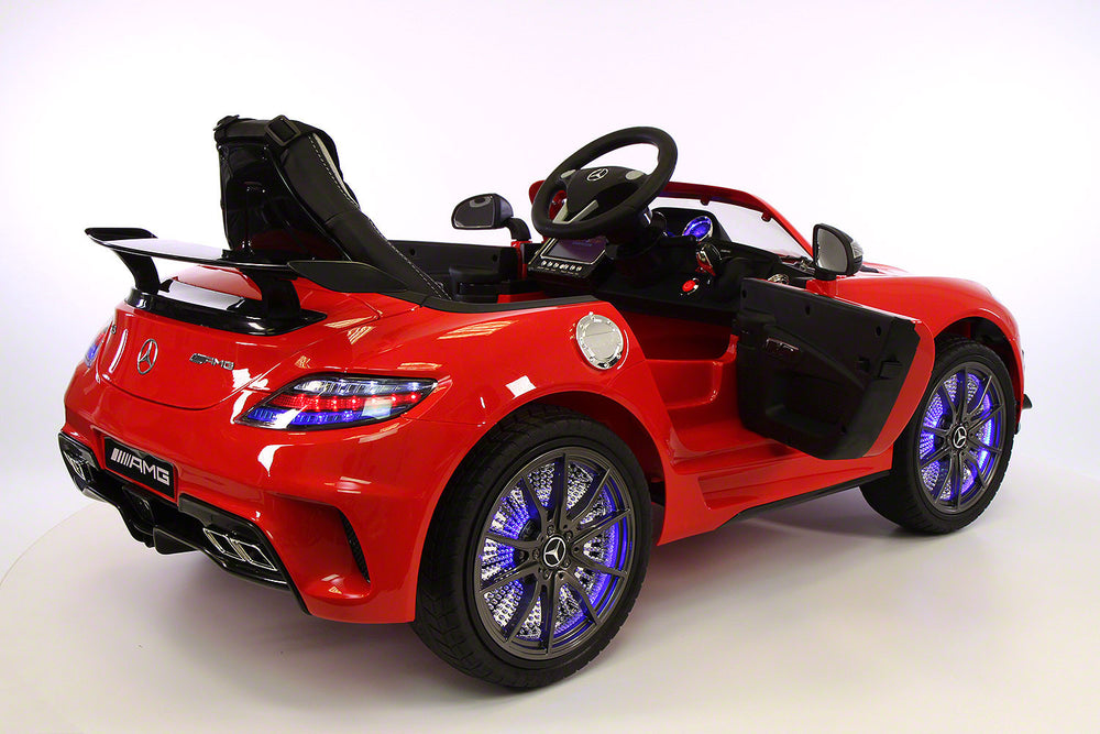 Moderno Kids Mercedes SLS 12V Kids Ride-On Car MP4 Color LCD Battery Powered Wheels RC Remote | Red