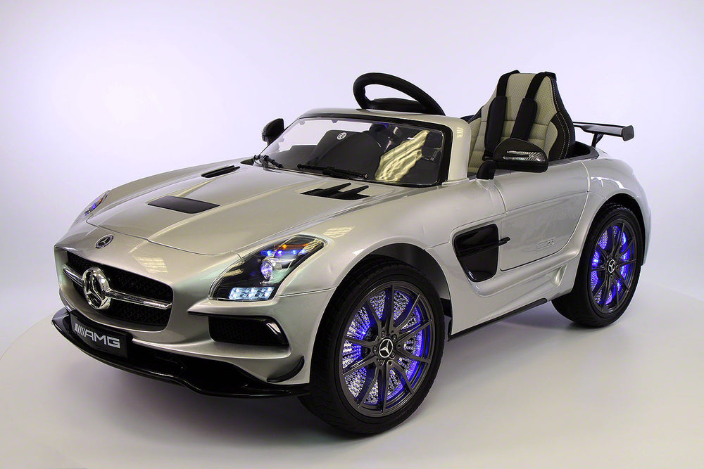 Mercedes SLS 12V Kids Electric Ride-On Car with R/C Parental Remote (Limited Edition) | Silver