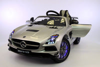 Moderno Kids Mercedes SLS 12V Kids Electric Ride-On Car with R/C Parental Remote (Limited Edition) | Silver