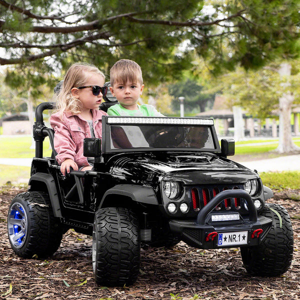 Moderno Kids Trail Explorer 12V Kids Ride-On Car Truck with R/C Parental Remote | Black
