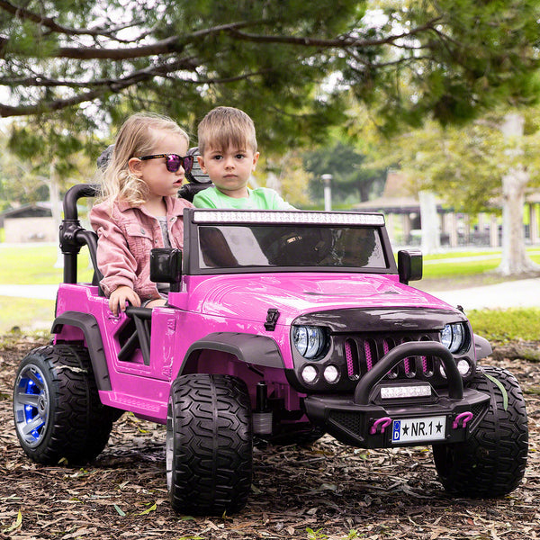 Moderno Kids Trail Explorer 12V Kids Ride-On Car Truck with R/C Parental Remote | Pink