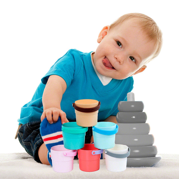 Moderno Kids Stacking Play Cups Bath Toys for Toddlers