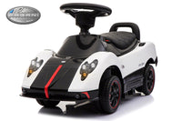 Moderno Kids Pagani Zonda Cinque Kids Convertible Ride On Push and Foot to Floor Car | White