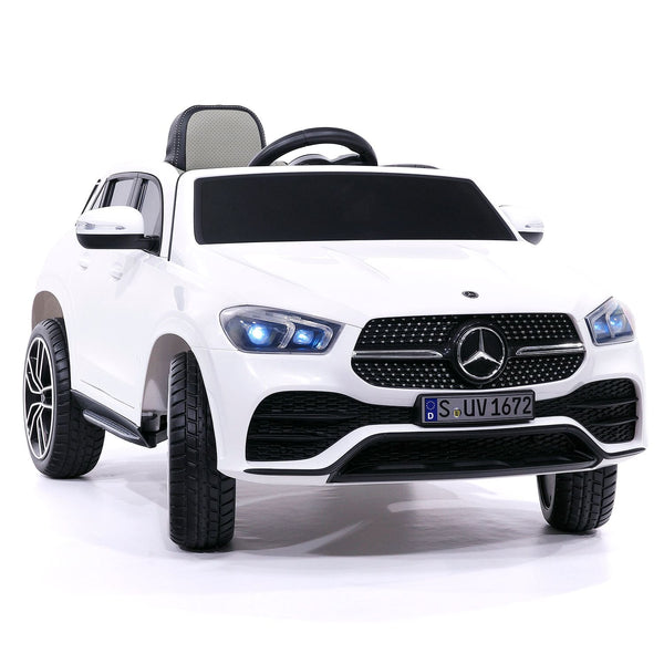 Mercedes GLE450 12V Kids Ride-On Car SUV with R/C Parental Remote | White