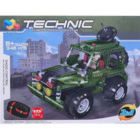 Moderno Kids 346 PCS. Building Blocks Car with RC Remote Control