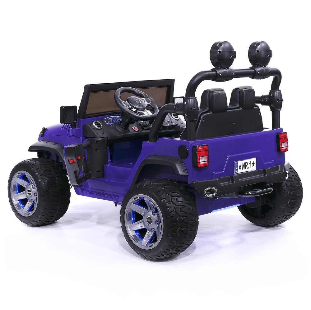 Moderno Kids Trail Explorer 12V Kids Ride-On Car Truck with R/C Parental Remote | Purple