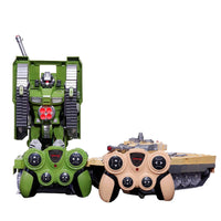 Moderno Kids Battery Operated Transforming Robot-Tank with RC Remote Control | Tan