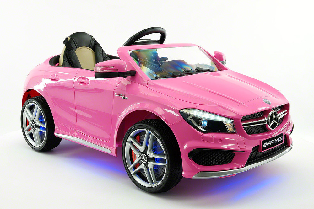 Mercedes CLA45 AMG 12V Kids Ride-On Car with Parental Remote | Pink