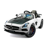 Moderno Kids Mercedes SLS AMG Final Edition 12V Kids Ride-On Car with Parental Remote | White
