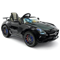 Moderno Kids Mercedes SLS AMG Final Edition 12V Kids Ride-On Car with Parental Remote | Black Metallic