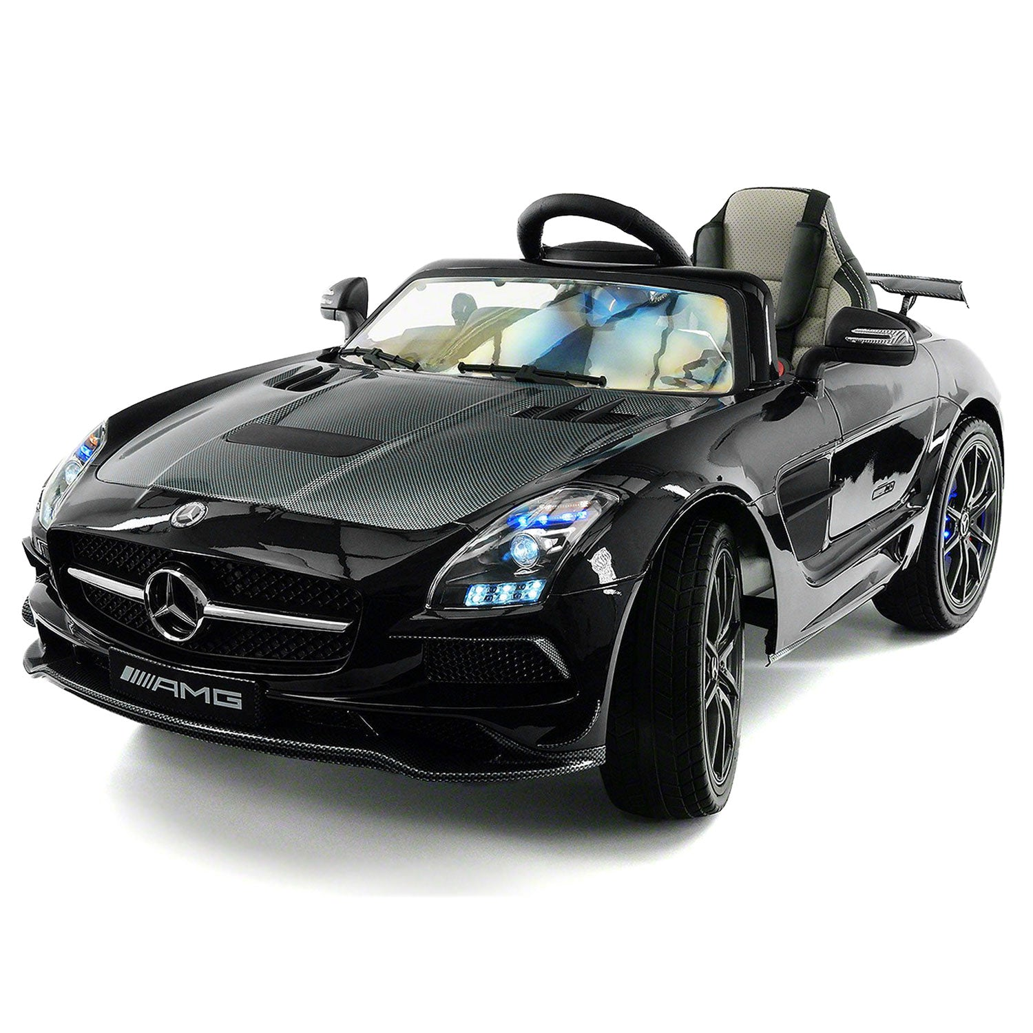 mercedes sls amg final edition 12v kids ride on car with parental remote black metallic