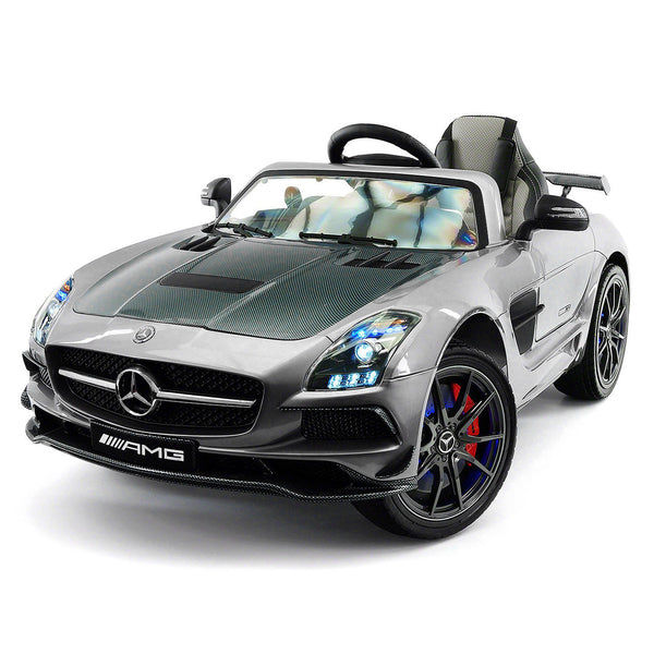Moderno Kids Mercedes SLS AMG Final Edition 12V Kids Ride-On Car with Parental Remote | Gray Metallic