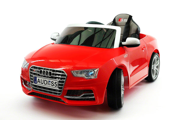 Moderno Kids Audi S5 Sport 12V Electric Kids Ride-On Car with Parental Remote | Red