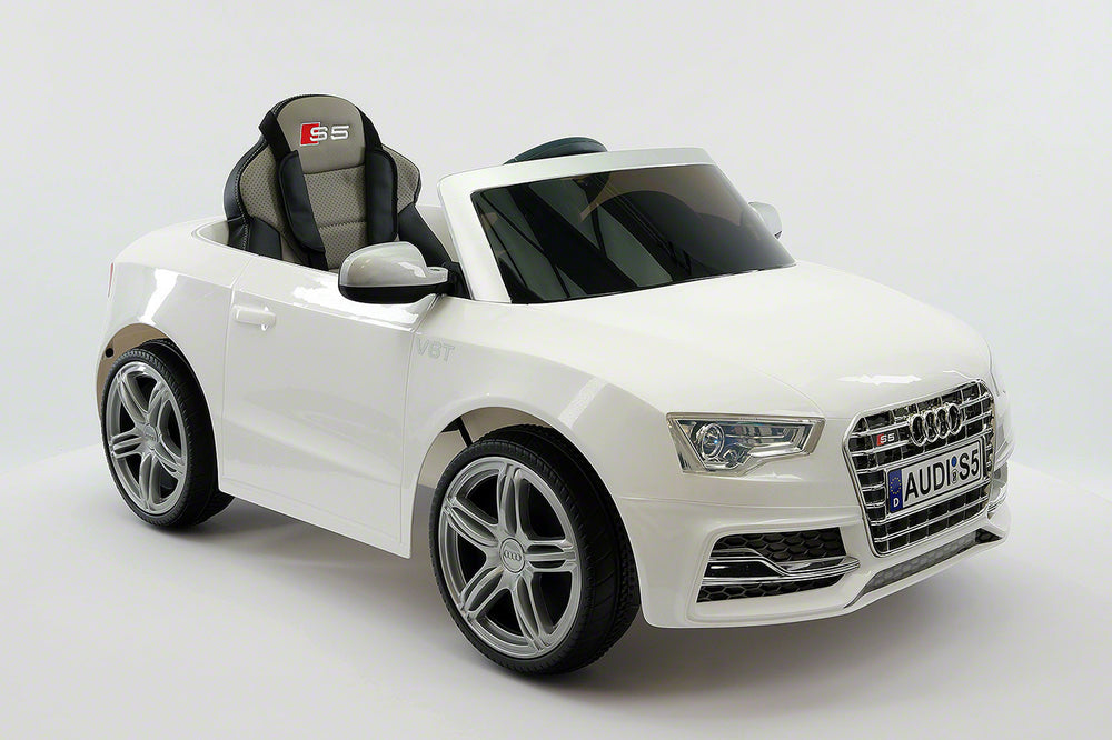 Audi S5 Sport 12V Electric Kids Ride-On Car with Parental Remote | White
