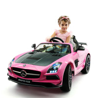 Moderno Kids Mercedes SLS AMG Final Edition 12V Kids Ride-On Car with Parental Remote | Pink