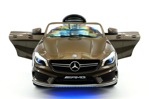 Mercedes CLA45 AMG 12V Kids Ride-On Car with Parental Remote | Cocoa Brown Metallic
