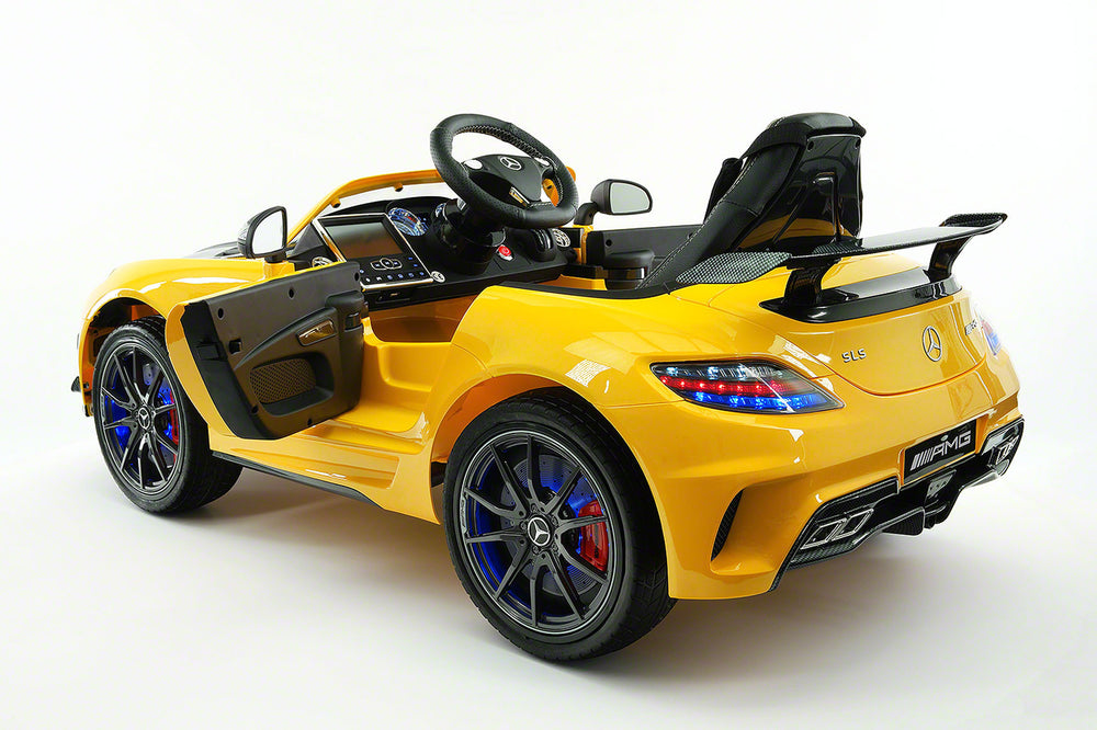 Moderno Kids Mercedes SLS AMG Final Edition 12V Kids Ride-On Car with Parental Remote | Yellow