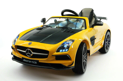 Mercedes SLS AMG Final Edition 12V Kids Ride-On Car with Parental Remote | Yellow