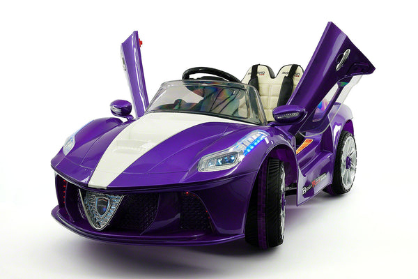 Moderno Kids Spider GT Kids 12V Ride-On Car with R/C Parental Remote | Purple