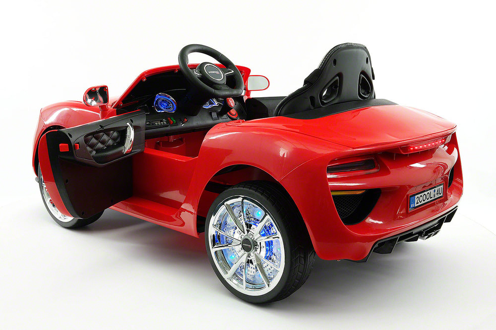 Moderno Kids Cool Racer 12V Electric Kids Ride-On Car with R/C Parental Remote | Red
