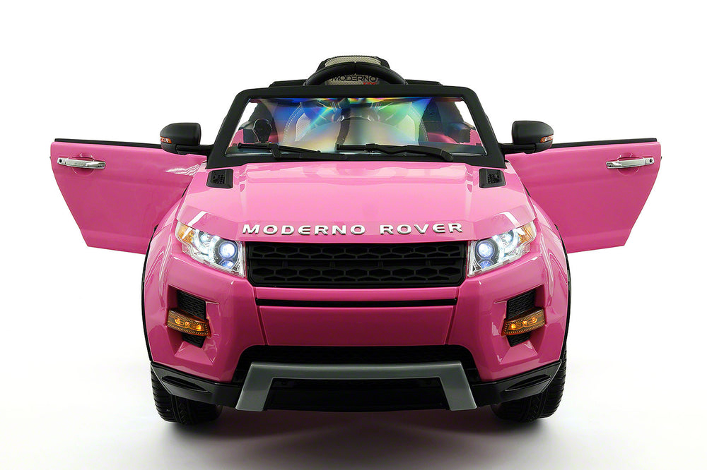 Moderno Kids Moderno Rover 12V Kids Ride-On Car with R/C Parental Remote | Pink